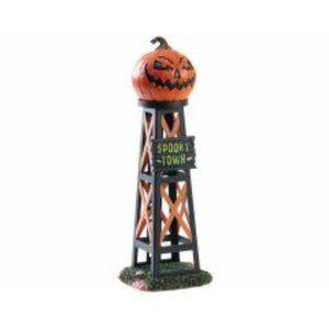 Lemax Spooky Town Evil Pumpkin Water Tower Hallowe